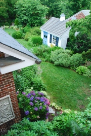 Bird's Eye View of the garden including the Playhouse