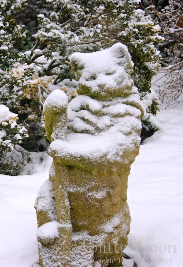 Mrs. Chippie in the Snow
