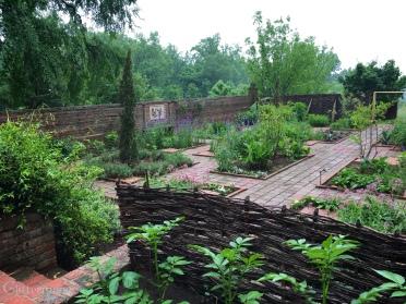 Wattle fence around the vegetable garden
